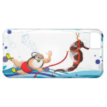 Bubble Santa Claus and Seahorse iPhone 5C Cover
