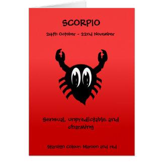 Bubble Scope Scorpio Card