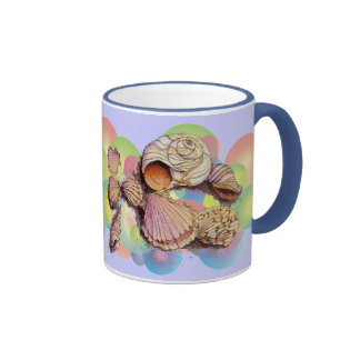 BUBBLE SHELLS by SHARON SHARPE Ringer Coffee Mug