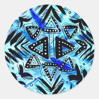 Bubble Sky Star Classic Round Sticker