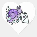 Bubble Snail Mail Heart Sticker