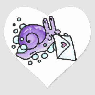 Bubble Snail Mail Heart Sticker