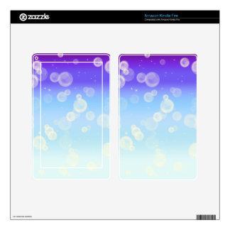 Bubble Sparkle Kindle Fire Skin