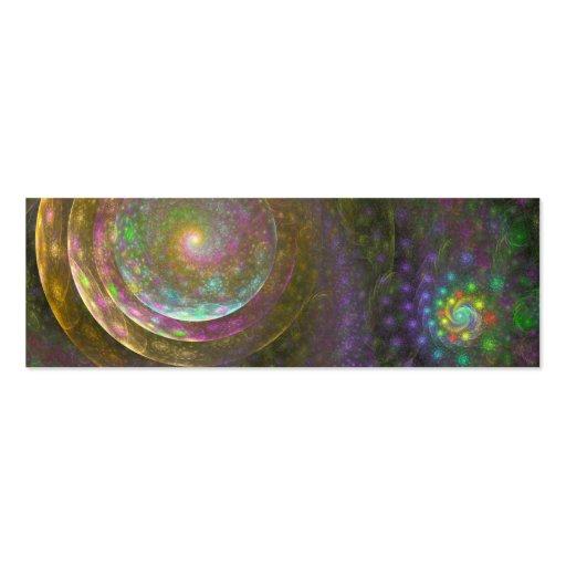"""""""Bubble Spiral"""" Fractal Art Business Card Template"""