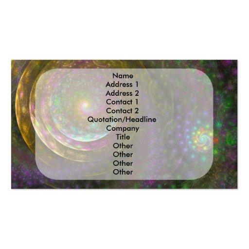 """""""Bubble Spiral"""" Fractal Art Business Card"""