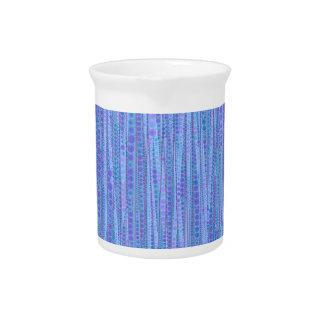 Bubble Stripes,blue Drink Pitchers