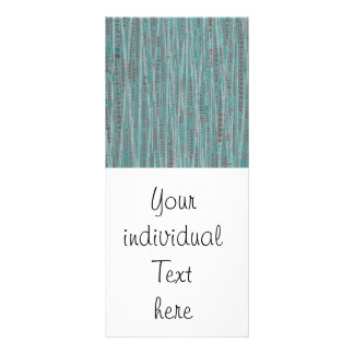 Bubble Stripes mint Customized Rack Card