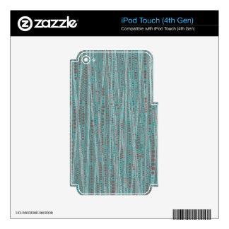 Bubble Stripes ,mint iPod Touch 4G Skin