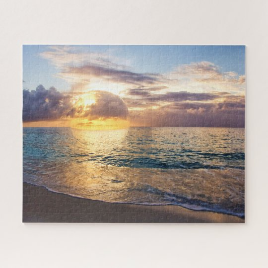 Bubble Sunset In Cayman Islands Jigsaw Puzzle