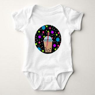 Bubble Tea - Bubble Background Baby Bodysuit