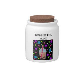 Bubble Tea - Bubble Background Candy Jars