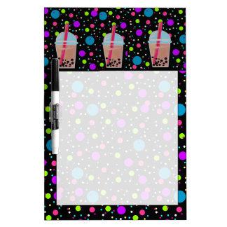 Bubble Tea - Bubble Background Dry-Erase Board