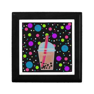 Bubble Tea - Bubble Background Trinket Boxes