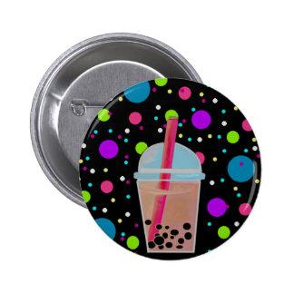 Bubble Tea - Bubble Background Pinback Button