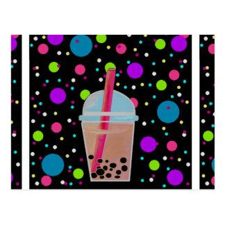Bubble Tea - Bubble Background Postcards