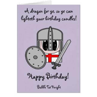 Bubble Tot Knight Card
