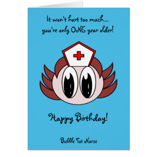 Bubble Tot Nurse Greeting Cards
