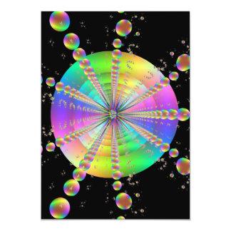 Bubble Tube 5x7 Paper Invitation Card