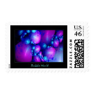 Bubble World Postage Stamp