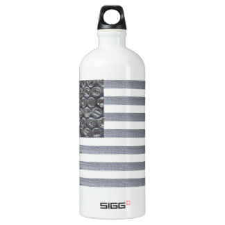 Bubble Wrap and Duct Tape Flag Aluminum Water Bottle