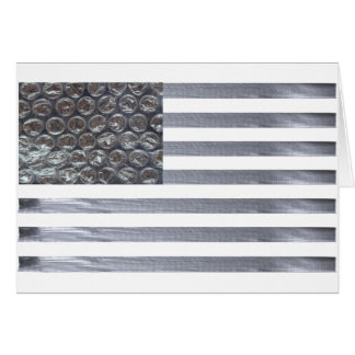 Bubble Wrap and Duct Tape Flag Card