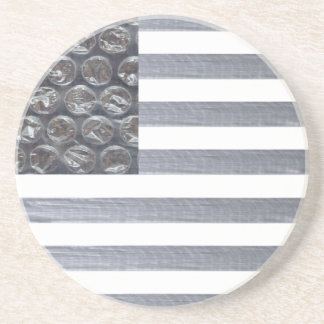 Bubble Wrap and Duct Tape Flag Coasters