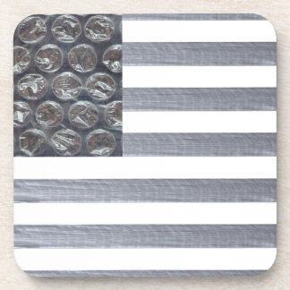 Bubble Wrap and Duct Tape Flag Drink Coaster
