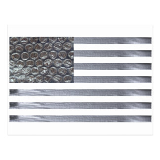 Bubble Wrap and Duct Tape Flag Postcard