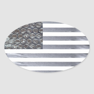 Bubble Wrap and Duct Tape Flag Sticker