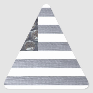 Bubble Wrap and Duct Tape Flag Triangle Sticker