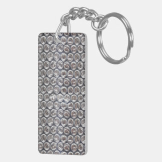 Bubble Wrap Background Keychain