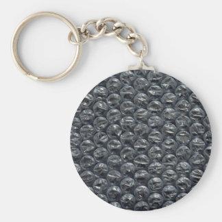 Bubble wrap basic round button keychain