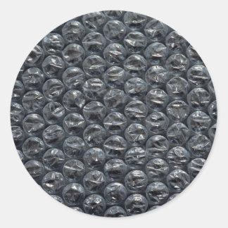 Bubble wrap classic round sticker