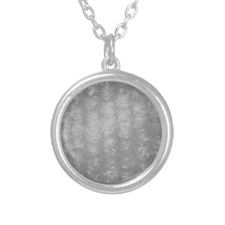 Bubble Wrap Silver Plated Necklace