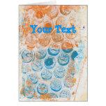 Bubble Wrap Texture Monoprint Greeting Cards