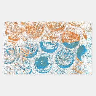 Bubble Wrap Texture Monoprint Rectangular Sticker