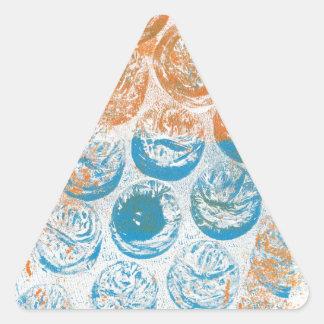 Bubble Wrap Texture Monoprint Triangle Sticker