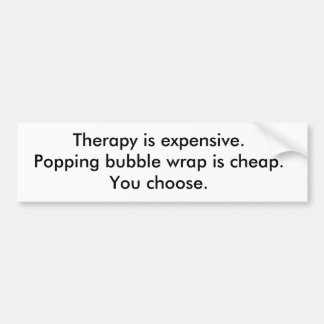 Bubble Wrap Therapy Bumper Sticker