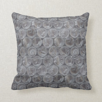 Bubble wrap throw pillow