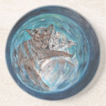 Bubblecats in Cyberspace Beverage Coaster