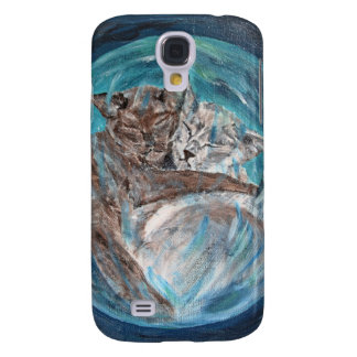 Bubblecats in Cyberspace Samsung Galaxy S4 Cases
