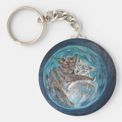 Bubblecats in Cyberspace Key Chains