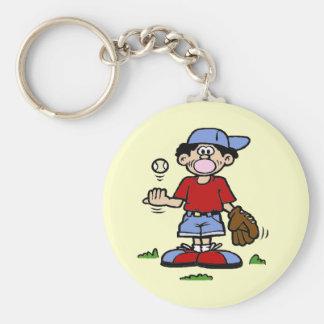 Bubblegum Boy Basic Round Button Keychain