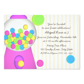 Bubblegum Candy Birthday Card