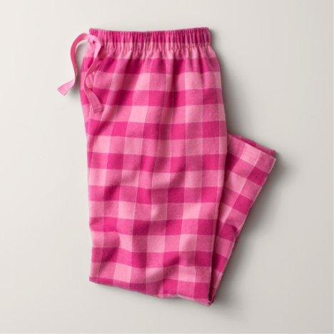 Bubblegum Color Flannel Pajama Pants (Youth)