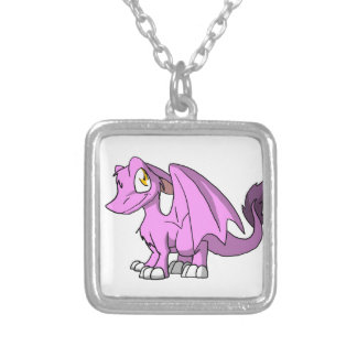 Bubblegum/dragón peludo rosado del SD Colgante Cuadrado