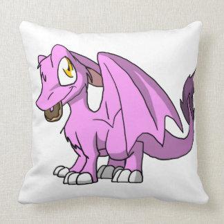 Bubblegum/dragón peludo rosado del SD con el Almohadas