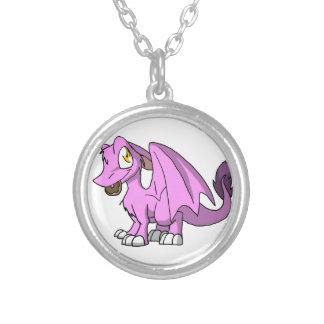 Bubblegum/dragón peludo rosado del SD con el Colgante Redondo