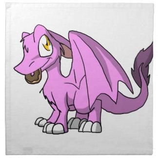 Bubblegum/dragón peludo rosado del SD con el Servilleta Imprimida