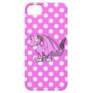 Bubblegum/dragón peludo rosado del SD con los iPhone 5 Carcasa